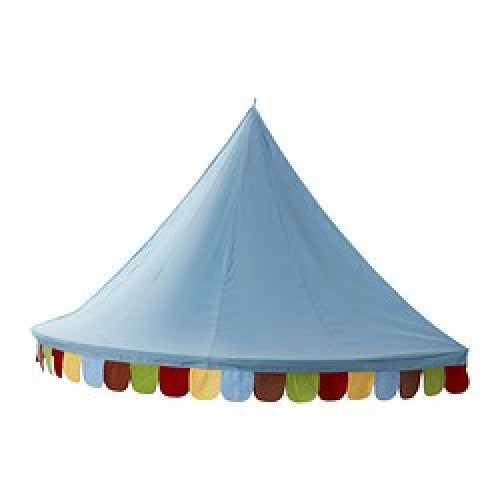 Children Bed Canopy Round Dome Mosquito Net Hanging Curtain Kid Bedroom Blue