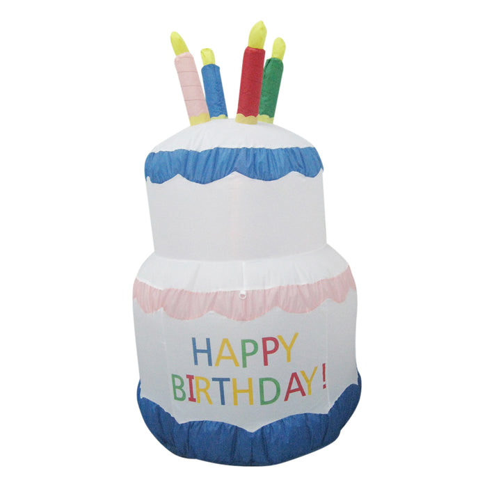180cm Happy Birthday Inflatable Party Cake Decoration