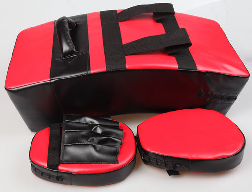 Kicking Boxing Sparring Shield & Punching Pad Mitts Combo