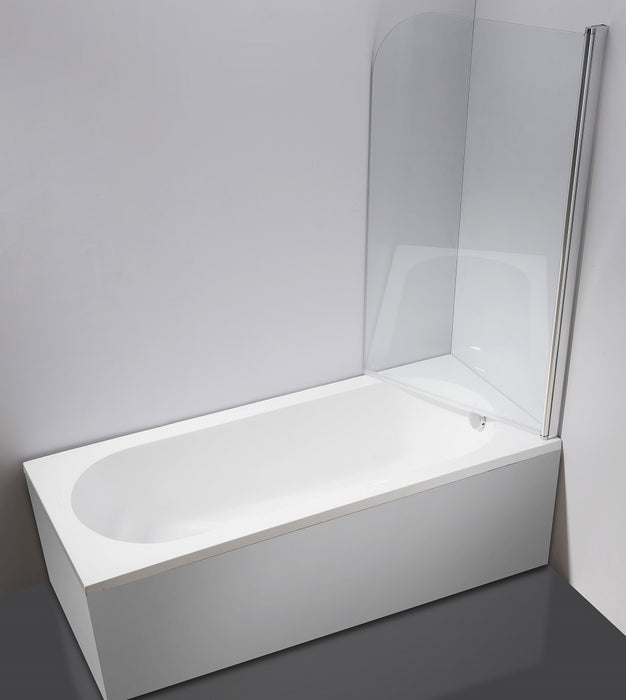 800x1400mm Pivot Door 6mm Safety Glass Bath Shower Screen By Della Francesca