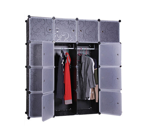 DIY 16XL Cube Storage Cupboard Cabinet Wardrobe Clothes Shelf Shelves