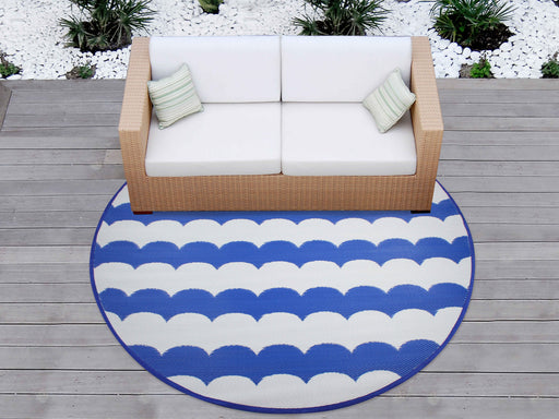 Outdoor Pp Mat Weatherproof Wave Round Dia. 200cm
