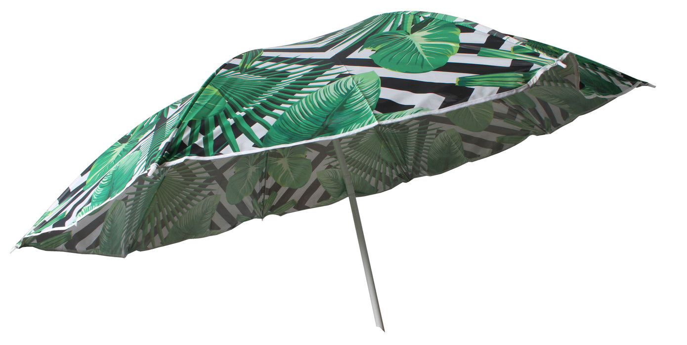 Beach Umbrella 180cm Geo Palm Design