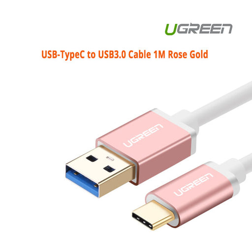 Ugreen USB-TypeC to USB3.0 Cable 1M Rose Gold 30538