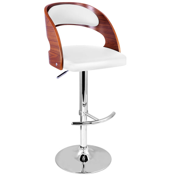 Wooden Bar Stool Gas Lift - White