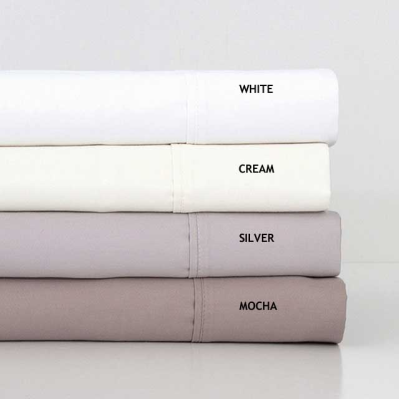 1000TC Queen Cotton Sheet Set Silver by Bambury