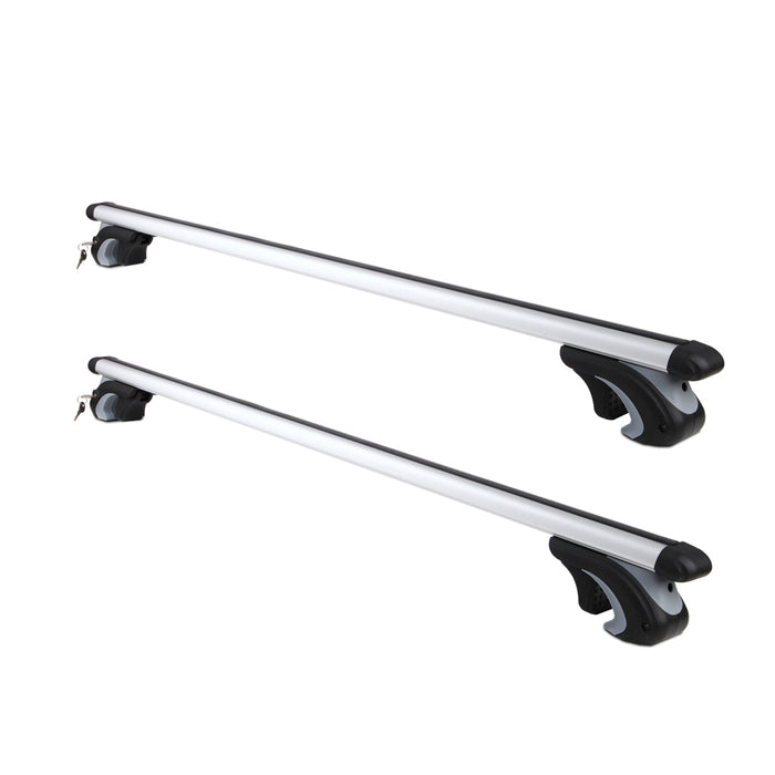 1120mm Universal Aluminum Alloy Car Top Roof Rack Cross  Bars| Lockable-Silver