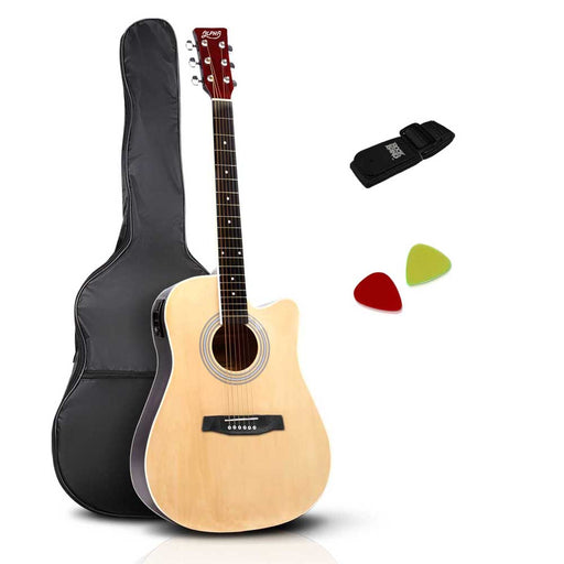 41 5- Band EQ Electric Acoustic Guitar Full Size - Natural