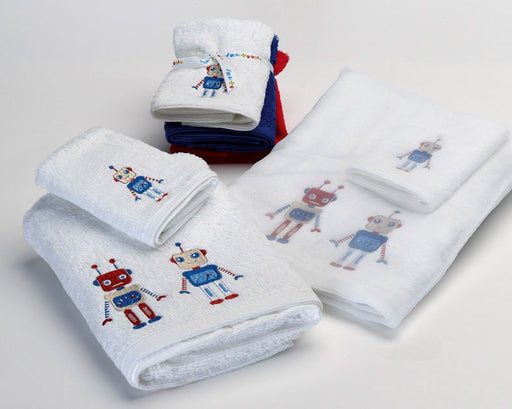Robots Bath Towel by Jiggle & Giggle