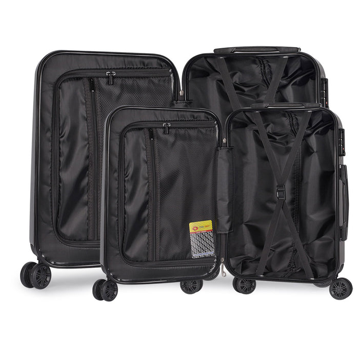 2 Piece Lightweight Hard Suit Case - Grey
