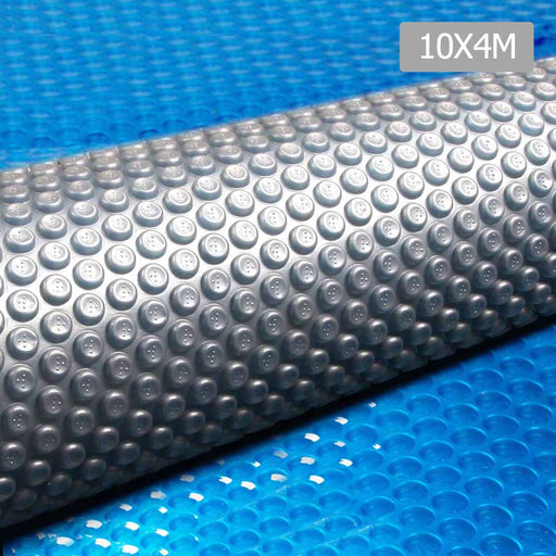 Solar Swimming Pool Cover 10 x 4M Outdoor Blanket Isothermal-Blue
