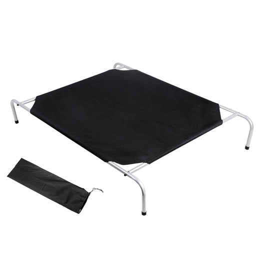 Dog Bed Trampoline Pet Bed Extra Large Canvash Combo Mat Cushion Flea -Black