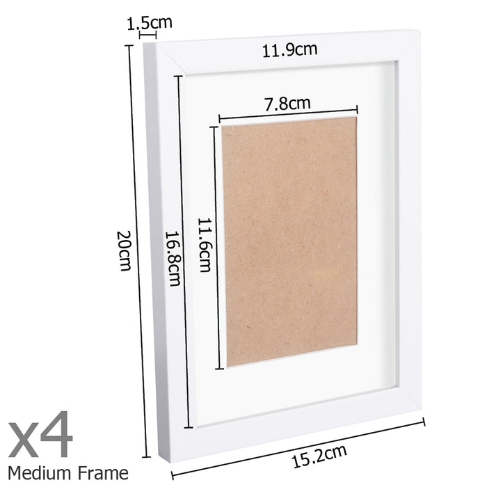 17 Piece Photo Gram Set - White