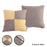 2 Set Pillow Cushion Covers Case Cotton Canvas Throw With Inserts - Grey Yellow