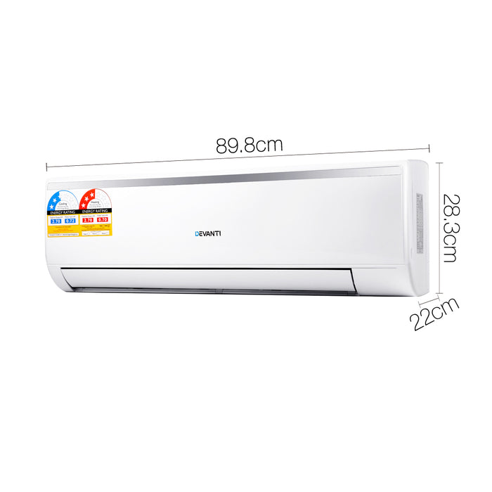 2.7KW Split System Air Conditioner - White