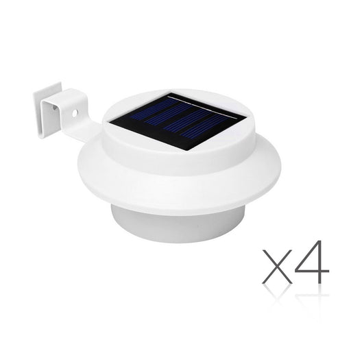 4 x Solar Gutter Lights - White