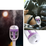 Car Humidifier Essential Oil Ultrasonic Diffuser Mist Aromatherapy Air Purifier