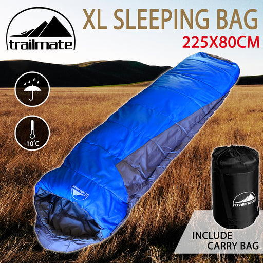 Outdoor Camping Sleeping Bag Thermal Hiking Tent Winter -5°C XL Single 225x80cm