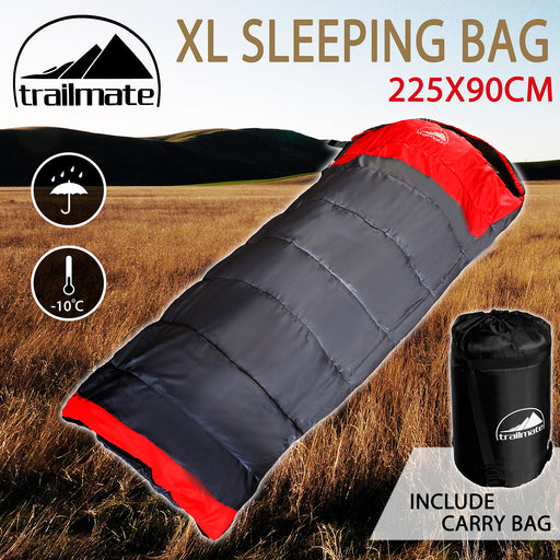 Outdoor Camping Sleeping Bag Thermal Hiking Tent Winter -5°C XL Single 220x90cm