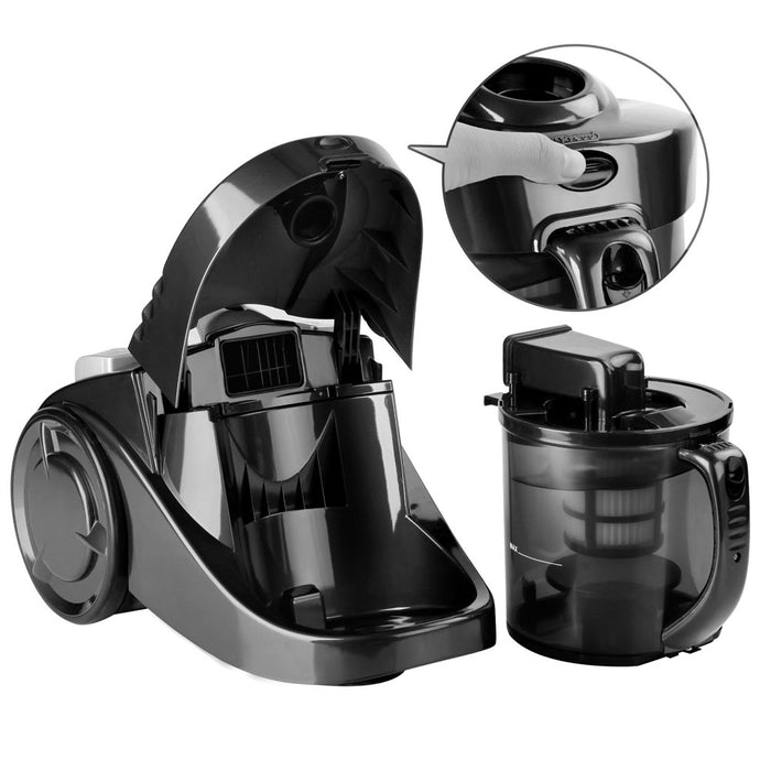 Bagless Cyclonic Cyclone Vaccum Cleaner Powerful Filter Vacuum -Black