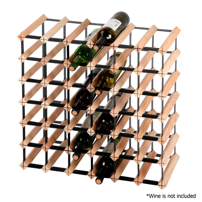42 Bottle Timber Wine Rack