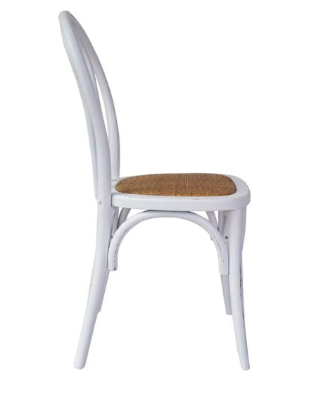 Bentwood Chair Antique White Set Of 2