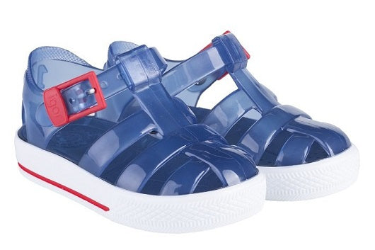 Igor Tenis crystal blue jelly sandal