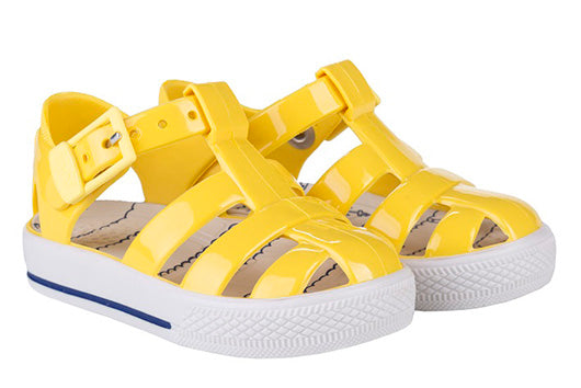 Igor Tenis Nautico solid yellow jelly sandal