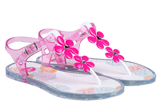 Ursula Glam pink jelly sandal
