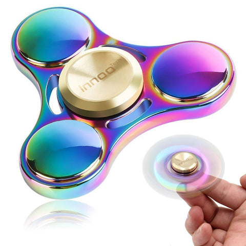 Fidget Spinner | Innoo Tech Colorful Hand Spinner | Rainbow Spinner Fidget Toys | Zinc Alloy | Spin 3-5 Minutes | High Speed Stainless Steel Bearing | ADD, ADHD Focus Anxiety Relief Toys