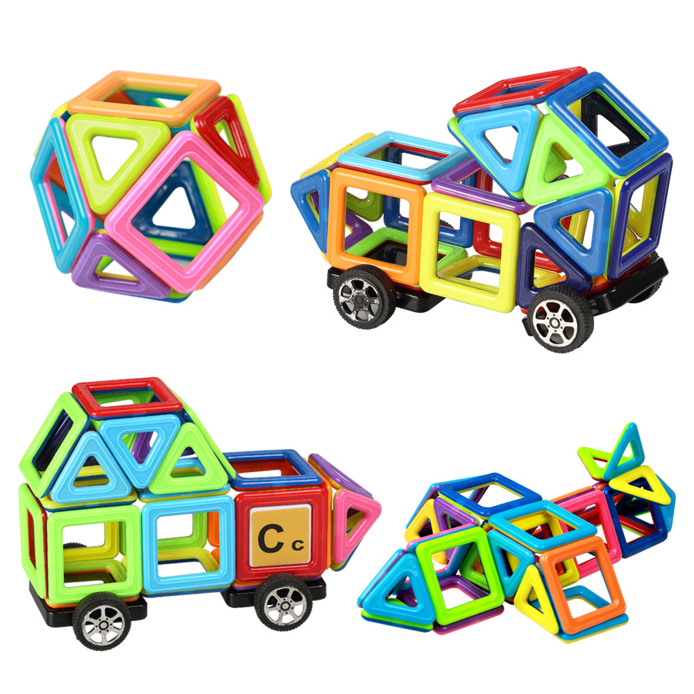 Building Blocks Magnatiles - Magnet 76 pcs Magnetic Building Tiles Construction Playboards Stacking | Toys for Kids & Toddle Gifts | ABS with Booklet