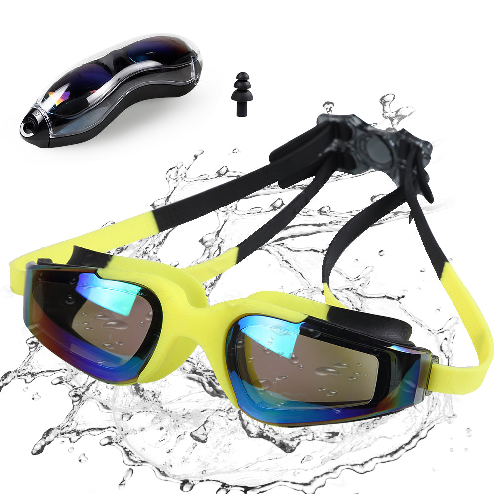 Swimming Goggles Swim Glasses, Adults Swim Goggles for Adults Kids Youth | No Leaking Anti Fog UV Protection with Protection Case