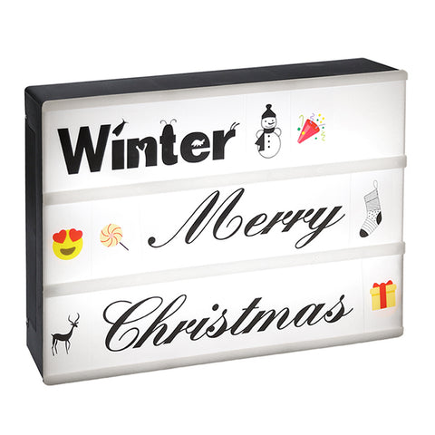 Lightbox, InnooLight A4 Cinema Light Boxes with 173pcs Letters, Emoji, Symbols, 17pcs   Calligraphy and Handwriting Words, 2 Background Image for Halloween, Holiday Decoration,   Party Lights