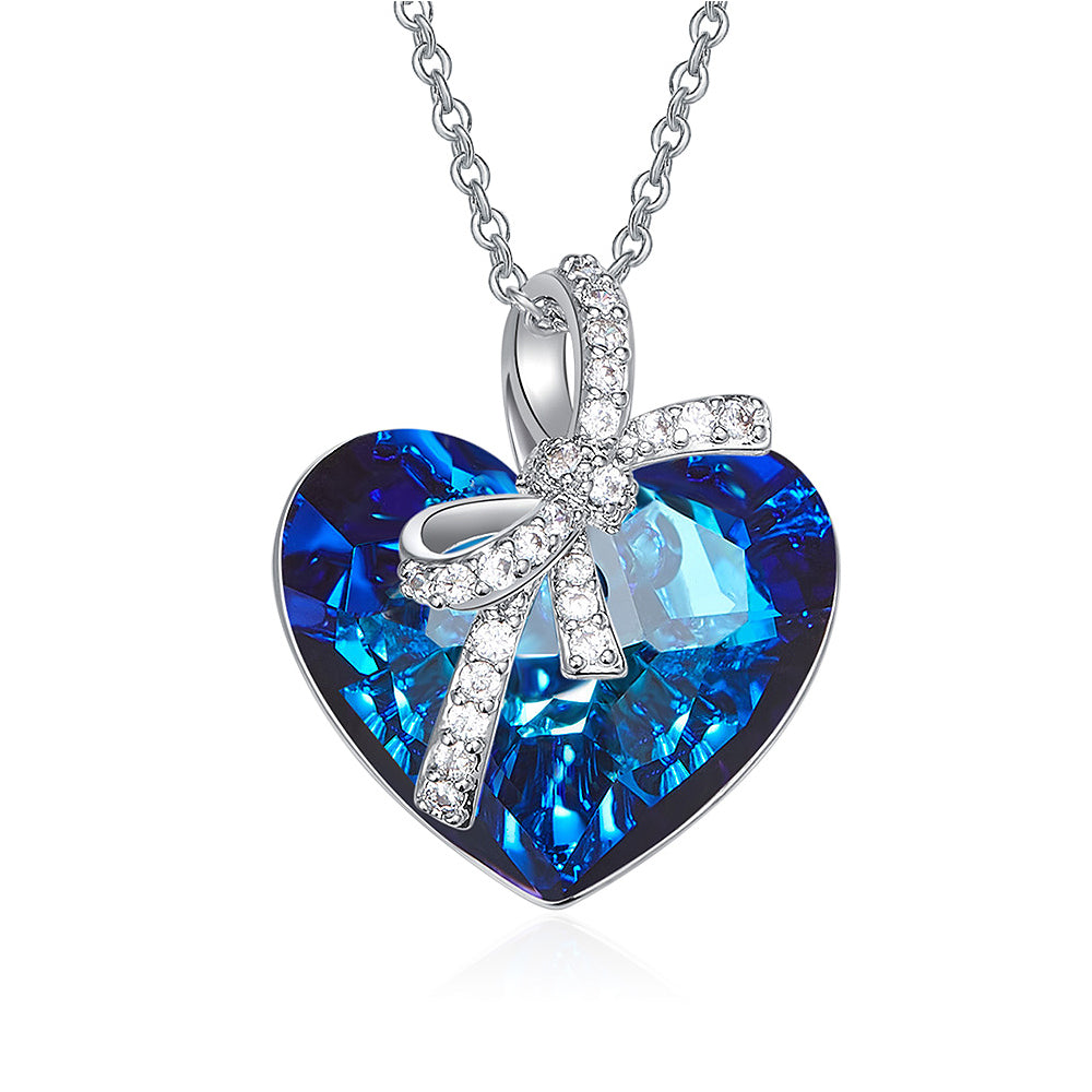 Heart Necklace for Women Pendant - Crystal from Swarovski Fine Jewelry 5A zircon | Christmas Gift with Luxury Gift Box - Eternal Love