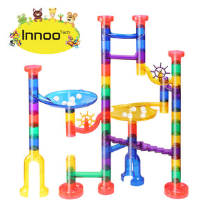 Marble Run Toy Girls - 80pcs Marble Race Construction Games | Educational Entertainment Building Blocks | Perfect Gifts for baby, boys, Kids Birthday Christmas