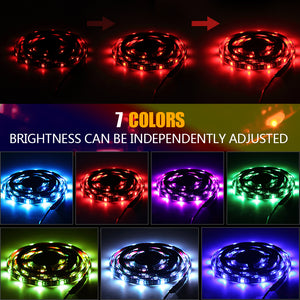 LED TV Backlight, 20 dynamic modes LED Strip Lights 4 * 50CM Set, infinitoo IP65 Waterproof Bias USB LED Light 5050 RGB with Remote Control for 40-60 inch HDTV, PC Monitor, Desktop, Tables [Energy Class A +++]