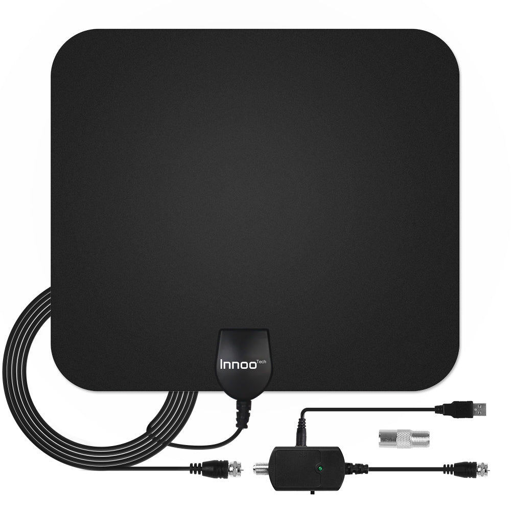 TV Antenna - HDTV Antenna Support 4K 1080P, 60-120 Miles Range Digital Antenna for HDTV, VHF UHF Freeview Channels Antenna with Amplifier Signal Booster, 16.5 Ft Longer Coaxial Cable