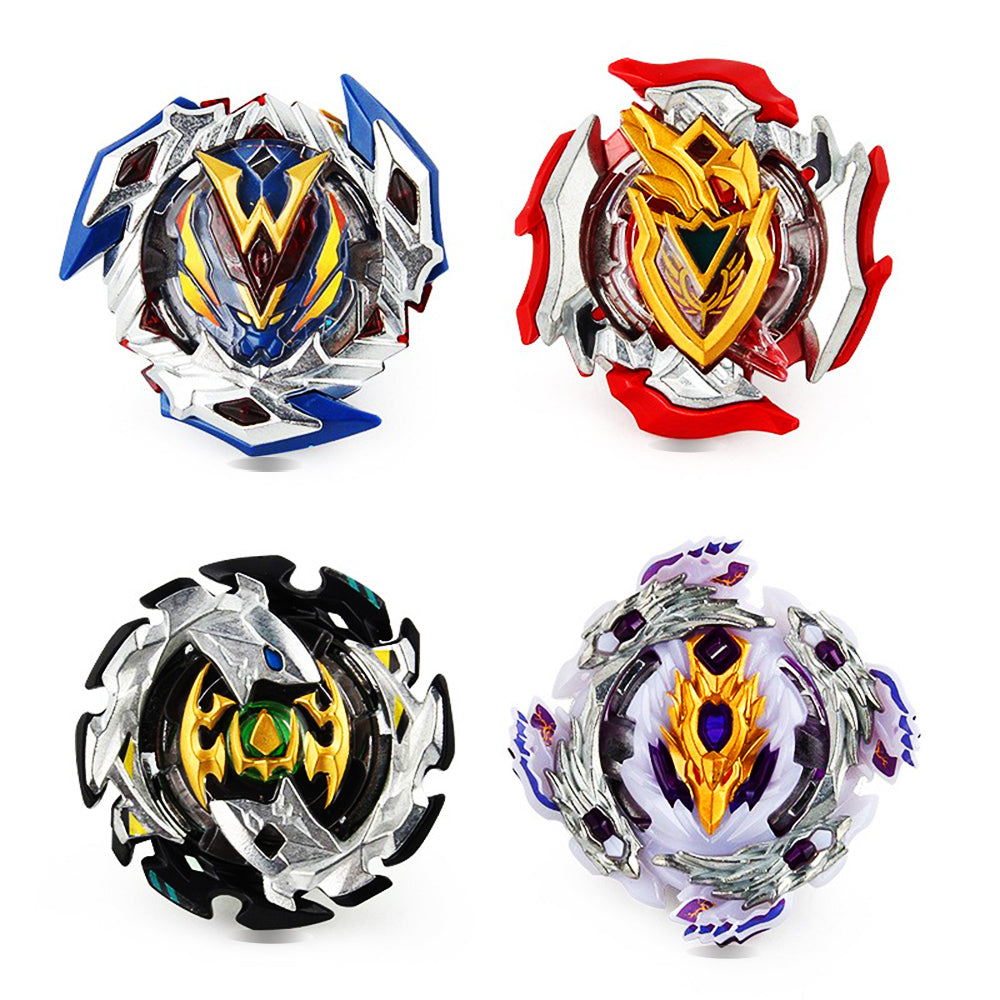 Battling Top Bey - Blade Battling Gyro Kids Toys Children Teens Birthday Gifts Graduation Burst | Battling Tops x4; Power Launcher x2; Launcher Grip x1