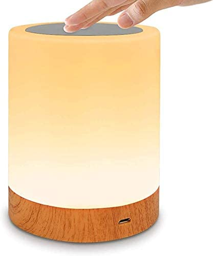 Innoo Tech Night Light, LED Night Light Touch Control Chargeable Smart Bedside Table Lamp, USB Rechargeable, Color Changing for Kids, Bedroom, Camping