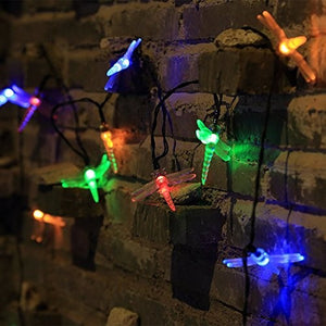 Multi Color Dragonfly Fairy Christmas Solar String Lights