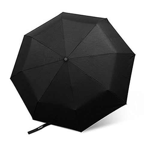 Reinforced Windproof Umbrella, Innoo Tech Compact Travel Umbrella for Mens & Ladies, Automatic Open/Close, 3 Folding, Unbreakable - Black