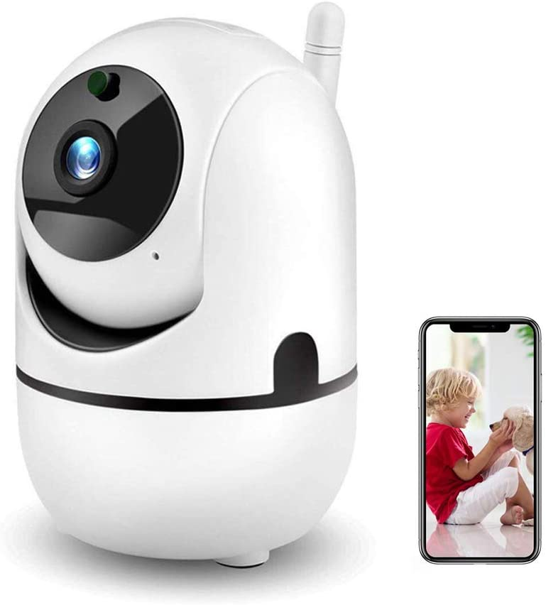 Innoo Tech CCTV Camera Wireless Security Camera HD WiFi IP Camera 360° Night Vision Remote Monitoring - White