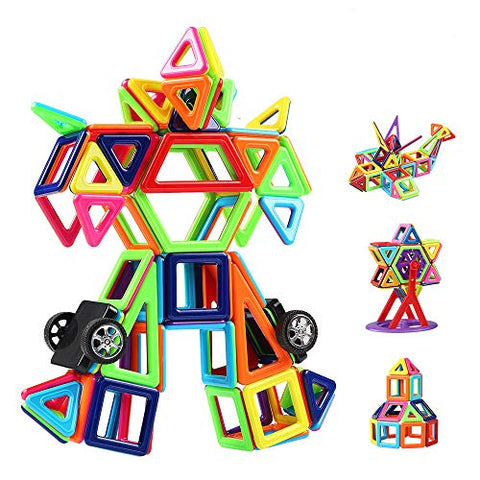 Innoo Tech Magnetic Building Blocks, 108Pcs Mini Construction Blocks