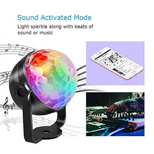 Disco Lights, Rechargeable Disco Ball Lights 4 Colours RGBP Party Lights Strobe Lights by InnooLight