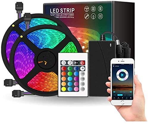 Innoo tech LED Strip Lights, 32.8ft DIY RGB Colour Rope Light Strip Kit with Remote and Timing Off, Dream Colour for TV, Room, Ceiling, Bedroom, Cupboard Decoration