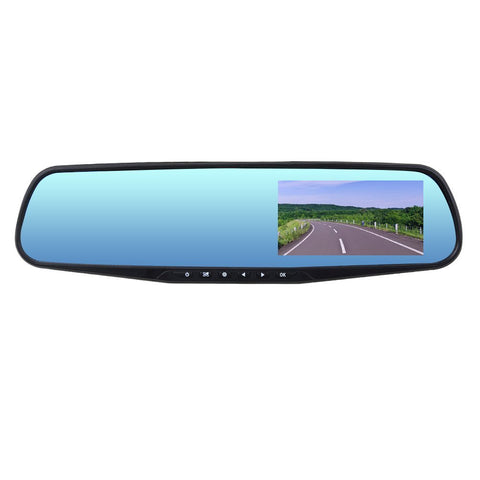 HD 1080P Dual Lens Car Video Camera Rearview Mirror Dashcam