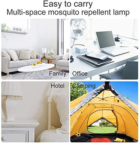 Innoo Tech Mosquito Killer Lamp, Electric Indoor Mosquito Trap with USB Power Supply and Adapter for Indoor Outdoor Camping
