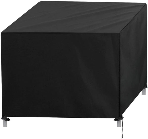 Innoo Tech Furniture Cover, Oxford Furniture Dustproof Cover, Garden, Outdoor Patio Protective Case for Rattan Table Cube Chair Sofa Waterproof Rain, Black (110x110x70cm)