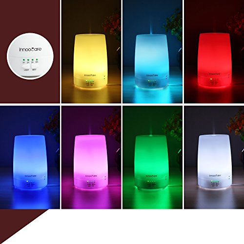InnooCare Essential Oil Diffuser, 180ml Aromatherapy Diffusers, Cool Mist Humidifier with 7 LED Light Colors