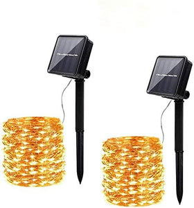 Innoo Tech [2 Pack] Solar String Light Outdoor, 12M 120 LED Fairy Light, 8 Mode Waterproof Copper Wire Solar Light Chain Decoration for Garden, Balcony, Terrace, Gate, Yard, Wedding, Party, Warm White